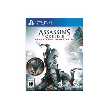Jogo Assassins Creed Iii 3 Remastered - Ps4 (dublado Em Português)