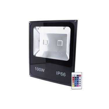 Refletor Holofote Led 100w Colorido Luz Rgb Bivolt Iluminação Resistente