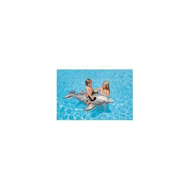 Boia Inflável Golfinho Com Alça Flutuante Bote Intex