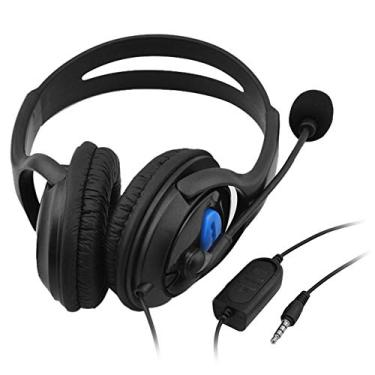 Andoer 3.5mm Com Fio Gaming Headphones Over Ear Game Headset Stereo Bass Fone de ouvido com microfone Controle de volume para PC Laptop PS4 Smart Phone