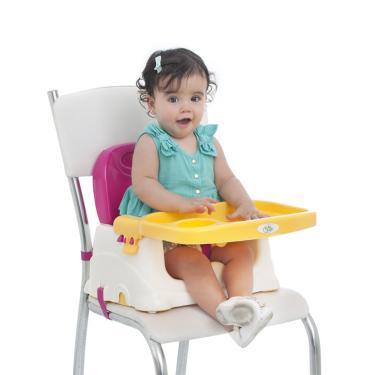 Cadeira Cadeirinha Alimentação Bebê Portátil Baby Style Rosa  menina