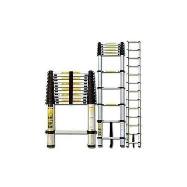 Escada Telescópica de Alumínio 5 metros 13 Degraus.
