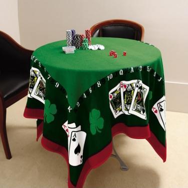 Imagem de Toalha De Mesa Aveludada Jocker Baralho Poker Truco Lepper