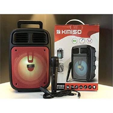 Imagem de Caixa de Som Bluetooth Karaôke Kimiso Com Microfone