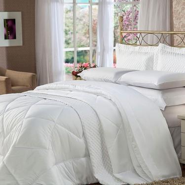 3375b8140c Cobreleito Queen 300 Fios Soft Touch Branco - Plumasul