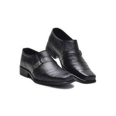 bc9c18f5aa Sapato Social Masculino Couro Bico Fino Conforto Dia a Dia