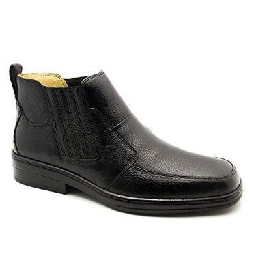 Botina Masculina 915 em Couro Floater Preto Doctor Shoes-Preto-43