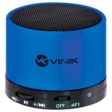 Caixa De Som Bluetooth/FM/Microsd/MIC Azul Vinik