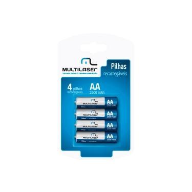 Pilhas Recarregáveis AA Multilaser 2500mAh c/ 4 Unidades - CB052