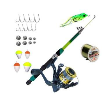 Kit De Pesca Completo Peixes Até 6kg Vara Molinete + 25 Peça - Cmik
