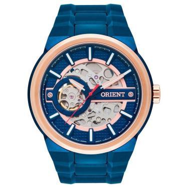 ae2afb205dc Relógio Masculino Orient Automático NH7BR001 D1DX Azul