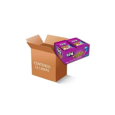 Bala Fini Minhocas Cítricas contendo 12 caixas