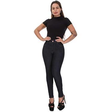 Calça Feminina Jeans Sawary Cintura Alta Super Lipo Com Cinta Interna (42)