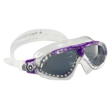 76fdad556 Máscara Natação Seal XP Ladies Lente Fumê Aqua Sphere - Transparente/Lilás