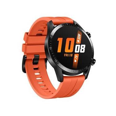 """Smartwatch Huawei Watch GT 2 (46mm) Laranja com Tela Amoled de 1.39"""", Bluetooth, GPS, Sensor de Frequência Cardíaca e Resistente à Água"""