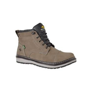 Bota Casual Masculina Sola Timber Couro Nobuck 815 Grafite