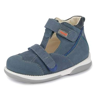 Memo Sandália ortopédica AFO para meninos Torino (Bebê/Criança pequena), Azul marinho, 6.5 Toddler