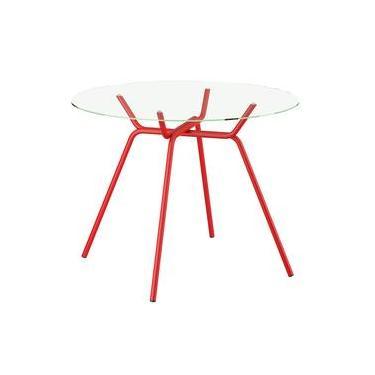 Mesas E Cadeiras Para Sala De Jantar Mesa Aço Vermelho Walmart