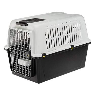 Ferplast ATLAS 60 PROFESSIONAL, Transportador para cães grandes, comedouro e acessórios incluídos, sistema de fechamento de segurança, grades de ventilação, Cinza, G