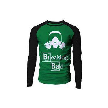 339c8f1f99 Camiseta masculina manga longa Breaking Bad raglan verde Live Comics