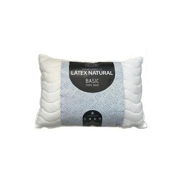 Travesseiro Flocos De Látex Natural Basic 13 cm Perfil Baixo Látex Foam