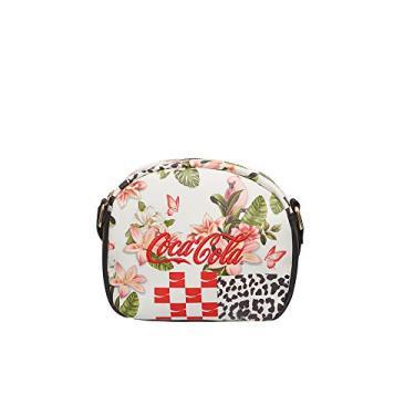 Bolsa Transversal Coca-Cola, Feminina Patchwork, Tam Único