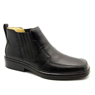 Imagem de Bota Masculina 915 em Couro Floater Preto Doctor Shoes-Preto-42