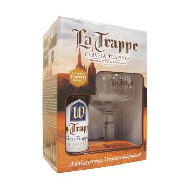 Kit Cerveja La Trappe Witte 1 Grf 330Ml + 1 Taça