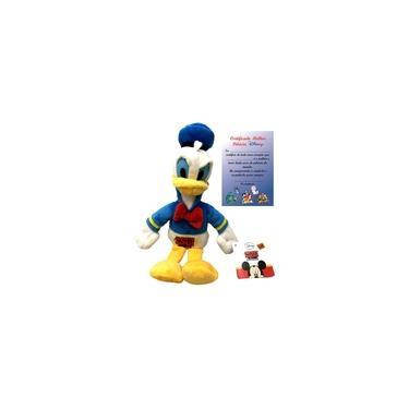 Imagem de Brinquedo Boneco De Pelúcia Pequeno Disney Pato Donald Fala Emite Som - Turma Do Mickey Mouse - Multikids