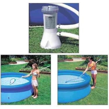 Kit de Limpeza Intex Aspirador Peneira com Bomba Filtrante 2006 LH 220
