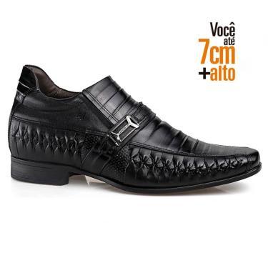 Sapato Social Couro Rafarillo Masculino Tresse Dia a Dia Preto  masculino