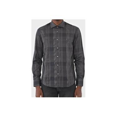 Camisa Aramis Casual Slim Xadrez Chumbo Original Loja Autorizada Tam GG