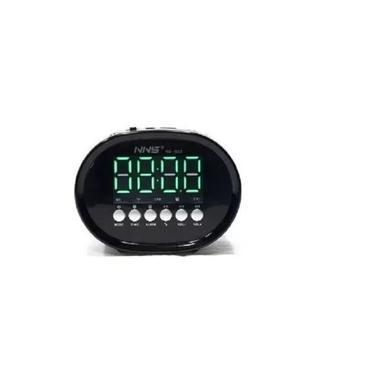 Caixa De Som Relógio Despertador Digital Bluetooth Mp3