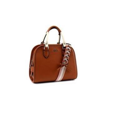 Bolsa Estruturada Bliss Bag - Material Sintético cor Whisky