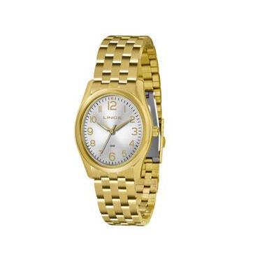 Relógio Feminino Analógico Lince Pulseira em Aço 3ATM LRG4321L S2KX -  Dourado b83bb78084