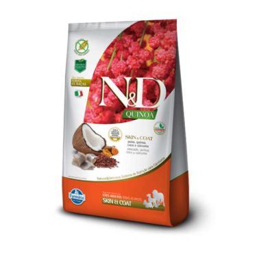 Ração Farmina N&D Quinoa Skin & Coat Peixe para Cães Adultos de Todas as Raças - 800 g