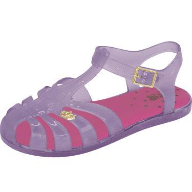 Sandália Flib Infantil CoroaPlástico Violeta  menina