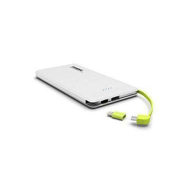 Carregador Portátil PowerBank clr p/ Apple Iphone SE Pineng 10000mAh Pn-951 Branco Original c/ Selo