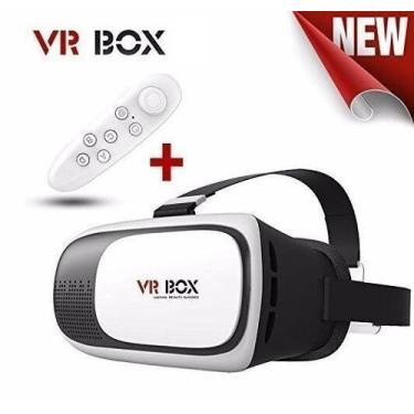 f1e5125c5cb Óculos de Realidade Virtual com Controle VR Box 3D Android IOS