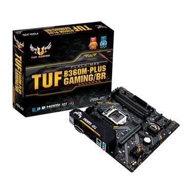 Asus TUF B360M-PLUS GAMING/BR (LGA 1151 - DDR4 2666) - Chipset Intel B360 - USB 3.1 Tipo C - Slot M.