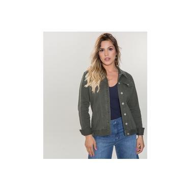 Jaqueta Jeans feminina Verde Militar