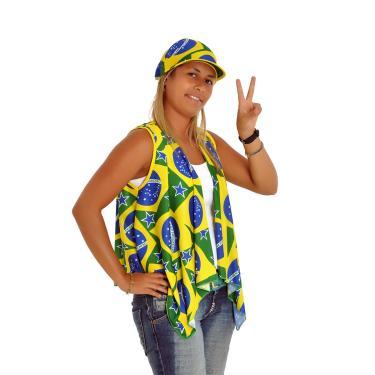 Bandana Com Aba Brasil - Copa do Mundo