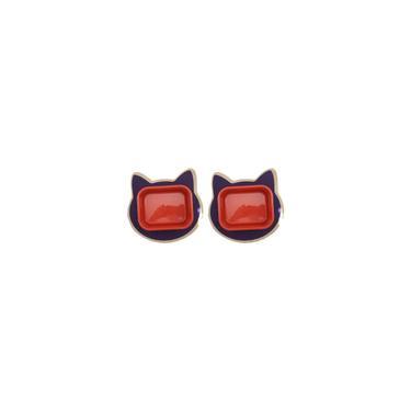 Imagem de Dois Jogo Americano + 2 Comedouros G - Vermelho - Roxo