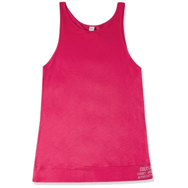 Colcci Fitness Blusa Regata Logo nas Costas, G, ROSA PRETTY