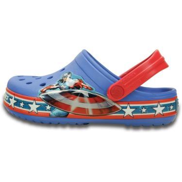 Sandália Crocs Capitain America Clog Azul  menino
