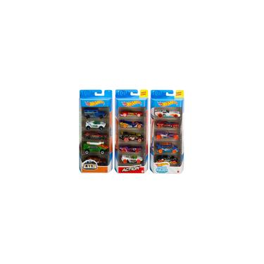 Imagem de Hot Wheels Track Pack 5 Pack Bundle de 15 1:64 Veículos de escala com 3 temas hw Track Builder, hw City, hw Action for Collectors & Kids 3 Years Old & Up Amazon Exclusive