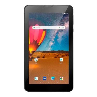 """Tablet Tela 7"""" Android 8.1 Wi-Fi 16GB Multilaser M7 3G Plus NB304 Pret"""