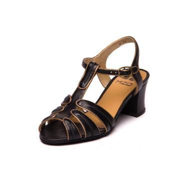 SandAlia Greta - 7812 Preto/bronze  feminino