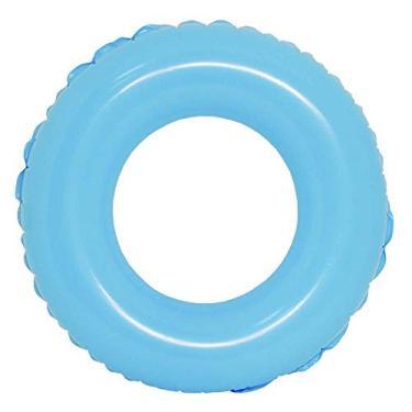 Boia Inflável De Cintura Redonda Piscina Colors 60cm - Dm Toys (Azul)
