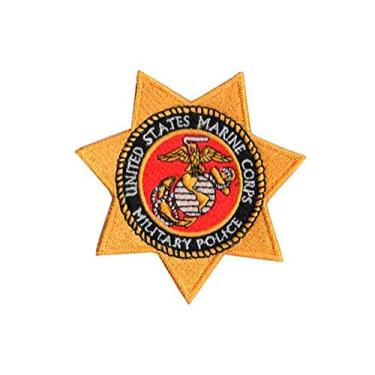 Patch Bordado - US Marine Corps Military Police EUA MR40033-377 Termocolante Para Aplicar
